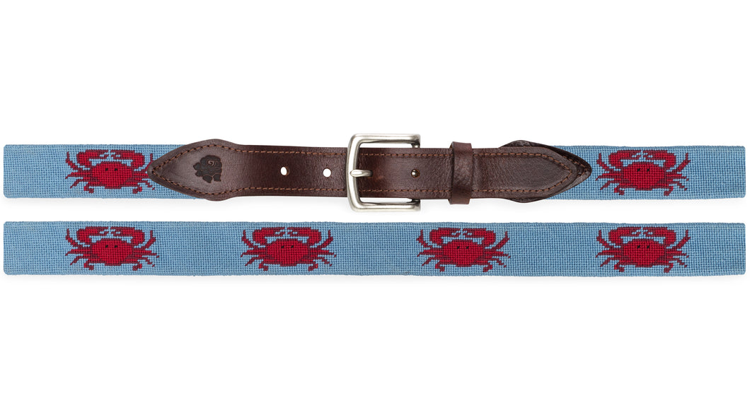 Crab Needlepoint Belt