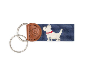 Dash The Dog Needlepoint Keychain