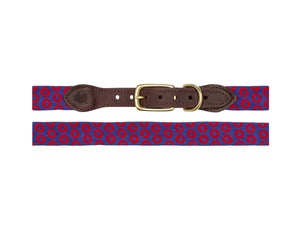 Bubbles Needlepoint Dog Collar.