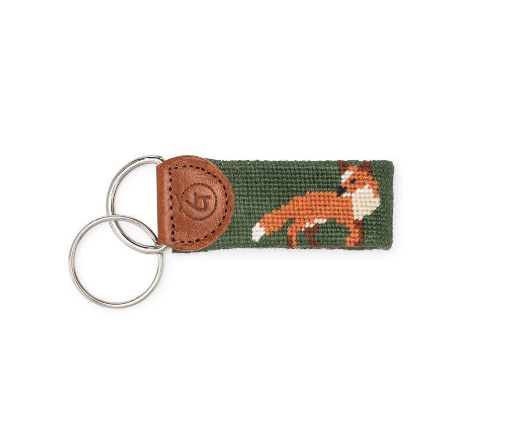 Fox Needlepoint Keychain