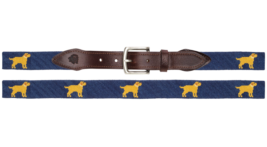 Golden Retriever Needlepoint Belt