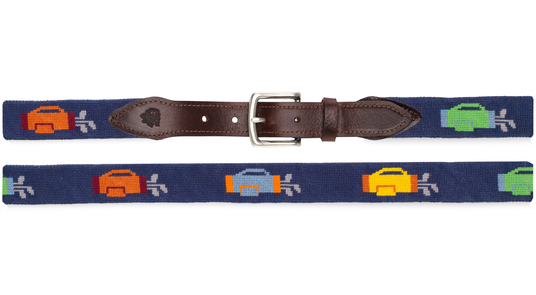 Golf Bags Needlepoint Belt