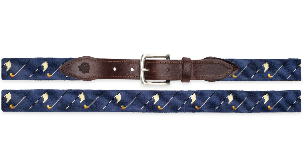 Golf Bags Needlepoint Belt (Navy)