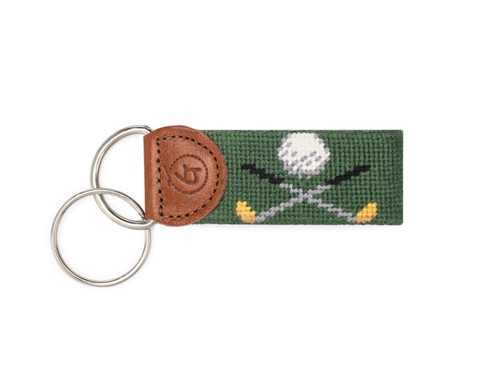Golf Needlepoint Keychain
