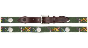 Golf Tees Needlepoint Belt