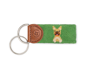 Frenchie Needlepoint Keychain