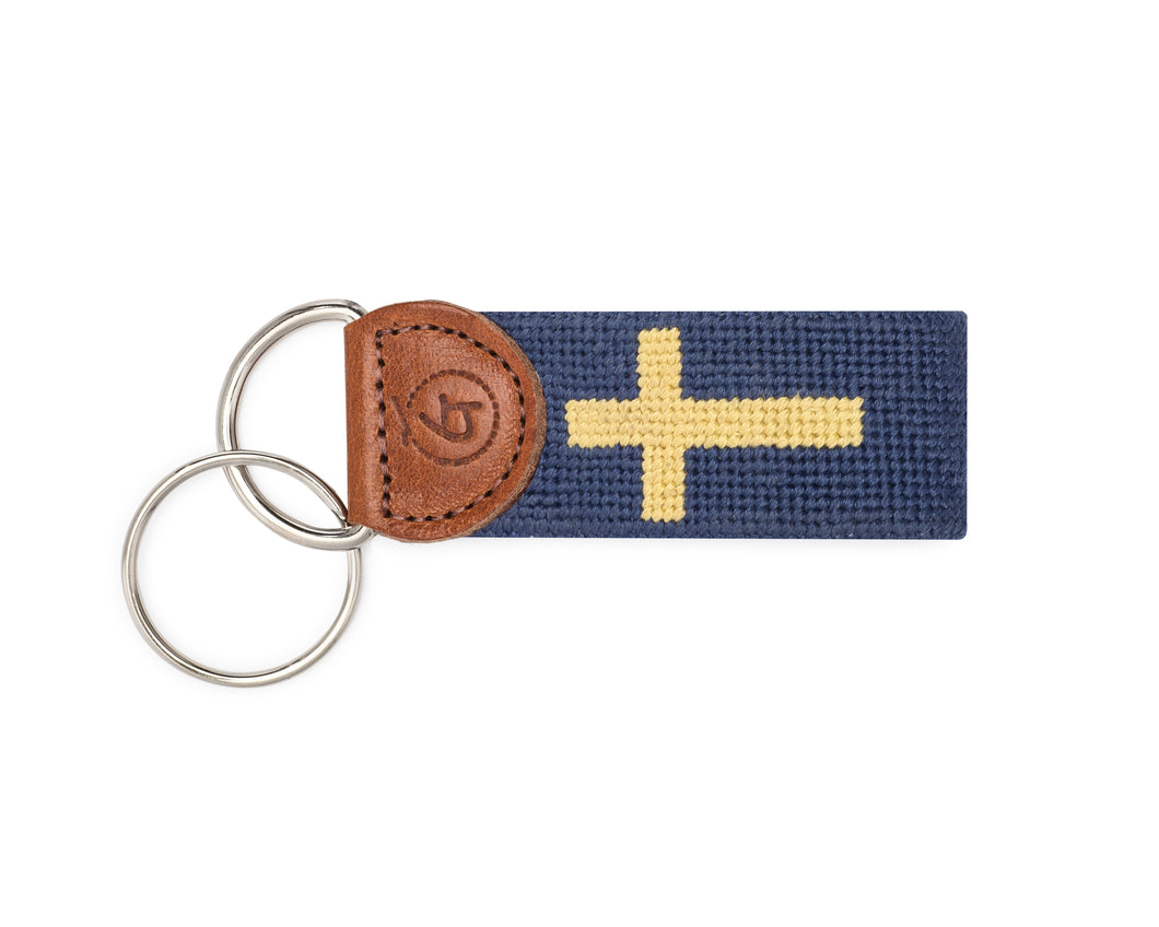 Cross Needlepoint Keychain