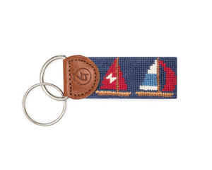 Sailboat Needlepoint Keychain
