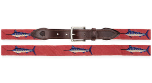 Sailfish Needlepoint Belt (Salmon)