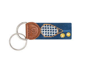Tennis Needlepoint Keychain
