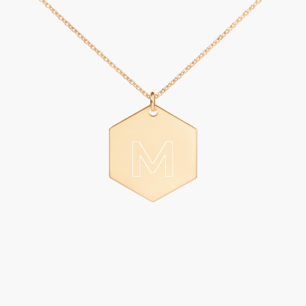 my name initial silver necklace, 24k gold coating, cute love gifts, online gift store