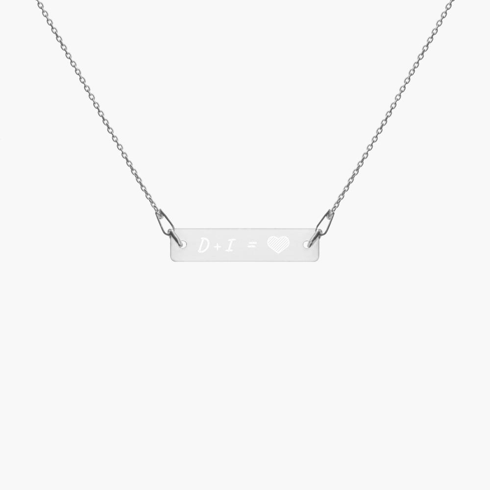 the perfect match silver necklace, white rhodium coating, cute love gifts, online gift store