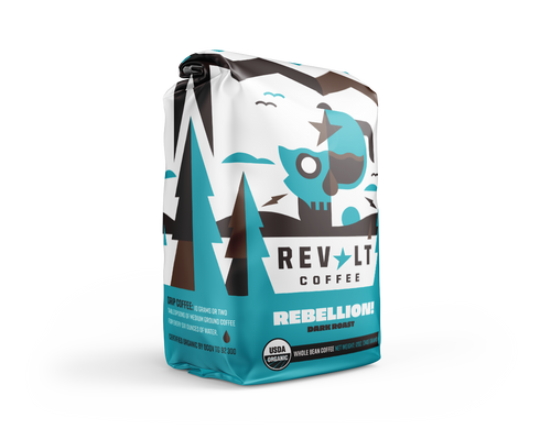Rebellion Dark Roast 12 oz Bag
