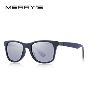 MERRY'S DESIGN Men Women Classic Retro Rivet Polarized Sunglasses Lighter Design Square Frame 100% UV Protection S'8508
