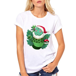 Novelty design kawaii cute Stocking Stuffer printed women t-shirts cartoon characters Banana/Cthulhu/Owl/Toothy Funny Print tops