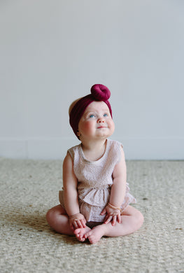 BERRY TOPKNOT HEADBAND