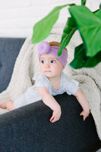 LIGHT PURPLE TOPKNOT HEADBAND