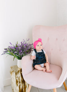HOT PINK TOPKNOT HEADBAND
