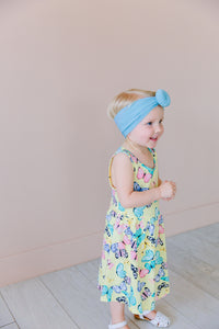 BABY BLUE TOPKNOT HEADBAND
