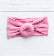 DARK MAUVE TOPKNOT HEADBAND