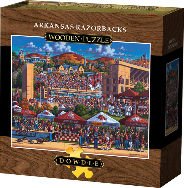 Arkansas Razorbacks Wooden Puzzle