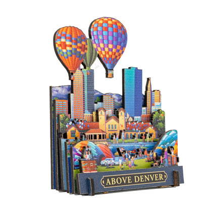 Above Denver 3D Wooden Puzzle CityScape
