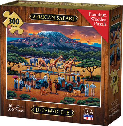 African Safari Wooden Puzzle