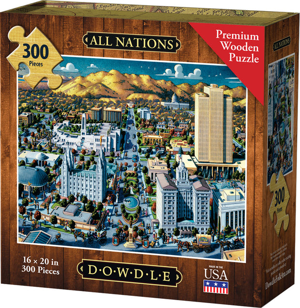 All Nations - Dowdle Wooden Puzzle