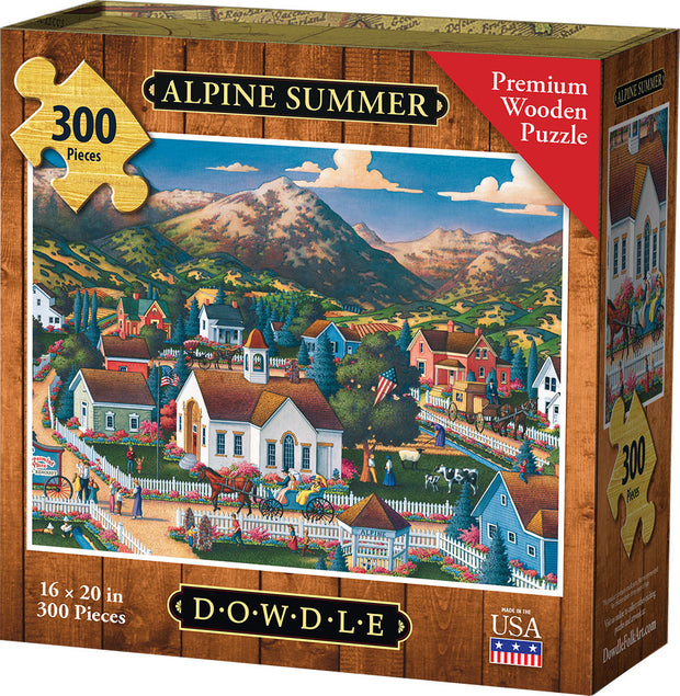 Alpine Summer Wooden Puzzle box