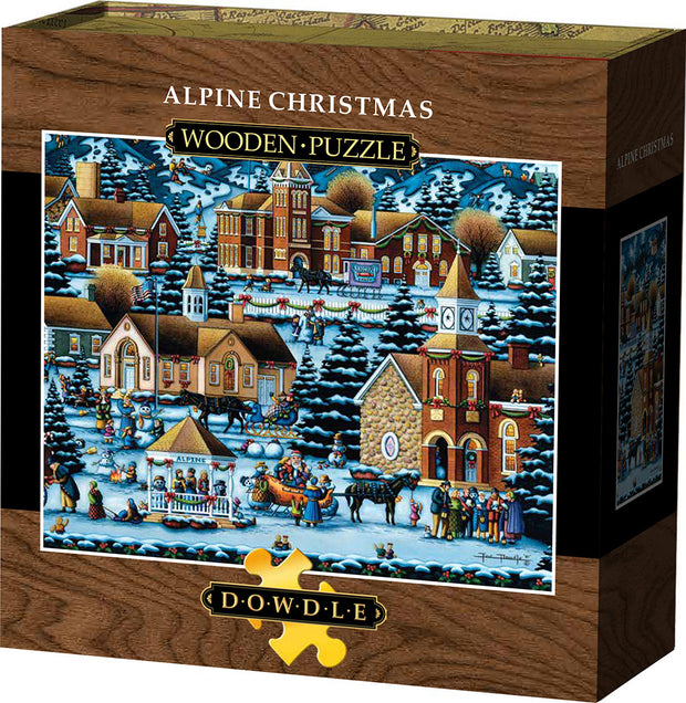 Alpine Christmas Wooden Puzzle