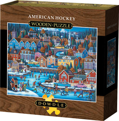 American Hockey Wooden Puzzle