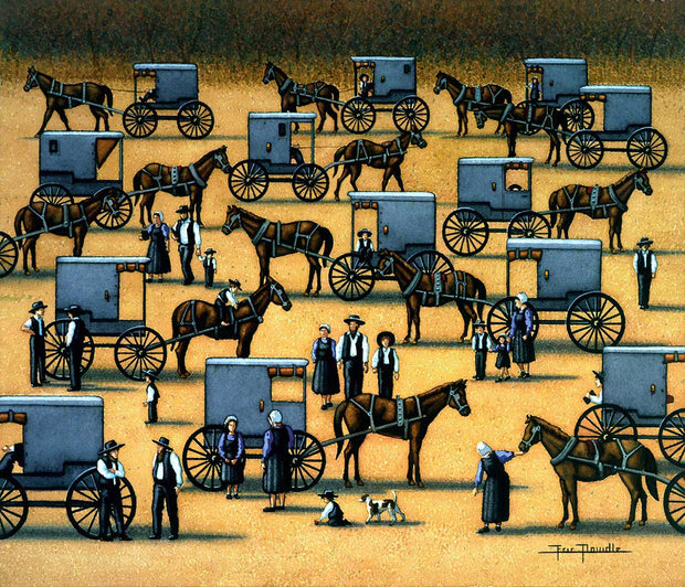 Amish Gathering - Fine Art