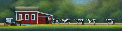 Amish Morning Milking - Fine Art