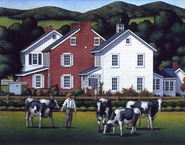Amish Out to Pasture - Fine Art