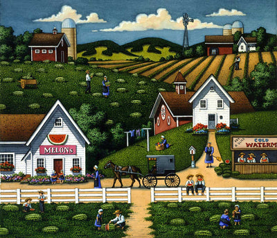 Amish Watermelons - Fine Art
