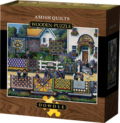Amish Quilts - Wooden Puzzle