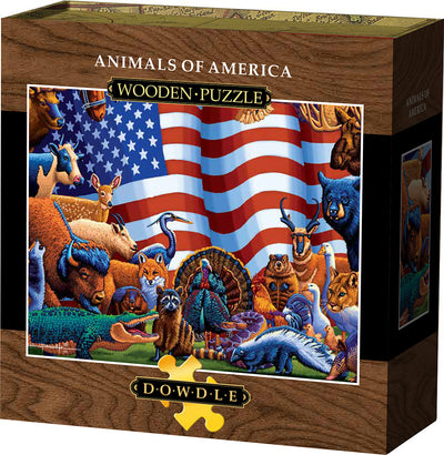 Animals of America - Wooden Puzzle