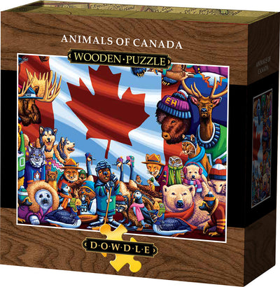 Animals of Canada Wooden Puzzle