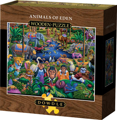 Animals of Eden Wooden Puzzle