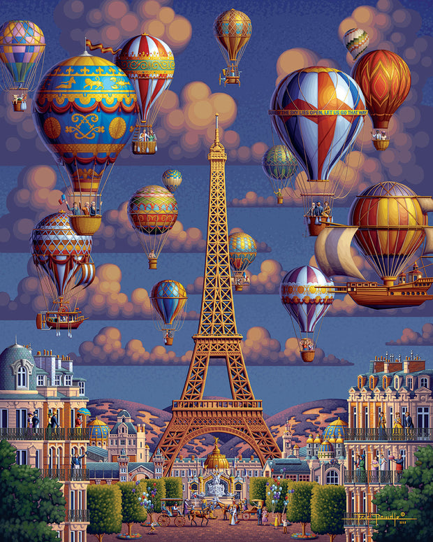 Balloons Over Paris - Fine Art