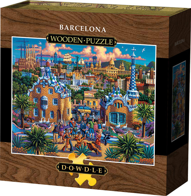 Barcelona - Wooden Puzzle