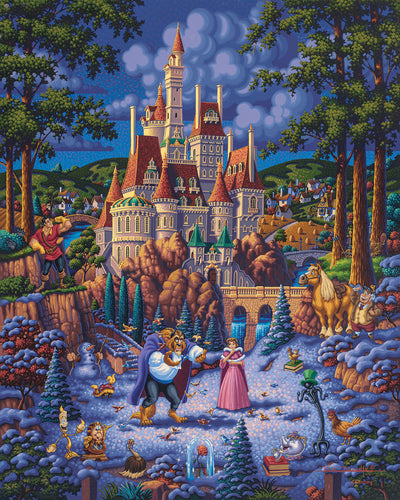 "Beauty and the Beast Finding Love – 14"" x 11"" Art Print"