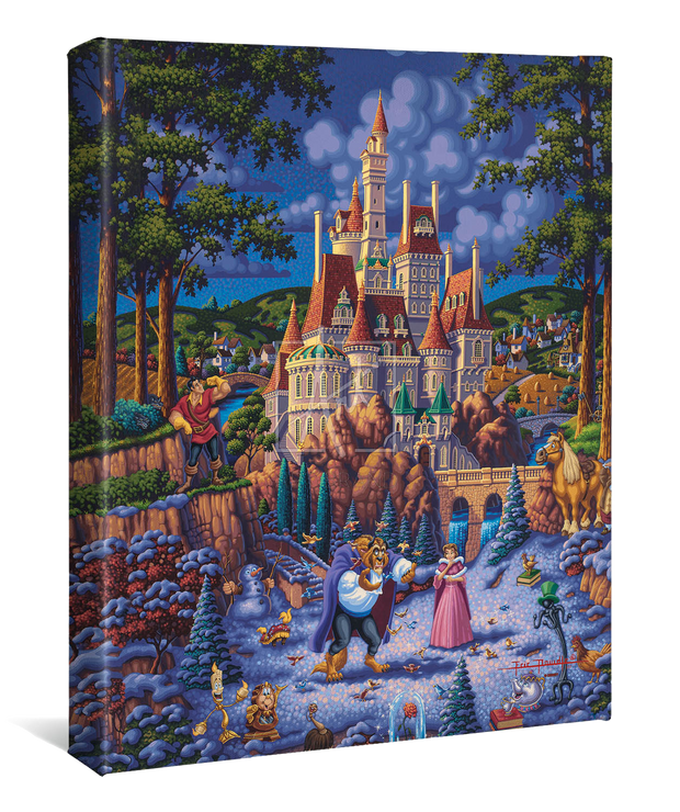 "Beauty and the Beast Finding Love – 14"" x 11"" Gallery Wrap Canvas"