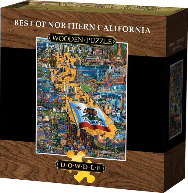 Best of Northern California - Wooden Puzzle