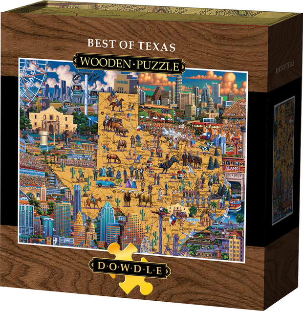 Best of Texas Wooden Puzzle