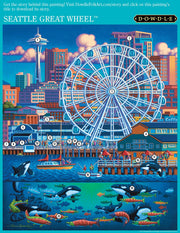 Seattle Great Wheel - Wooden Puzzle