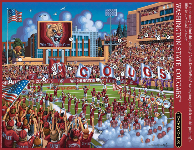 Washington State Cougars Wooden Puzzle