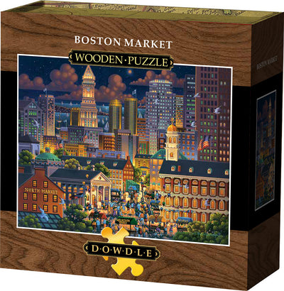Boston Market Wooden Puzzle