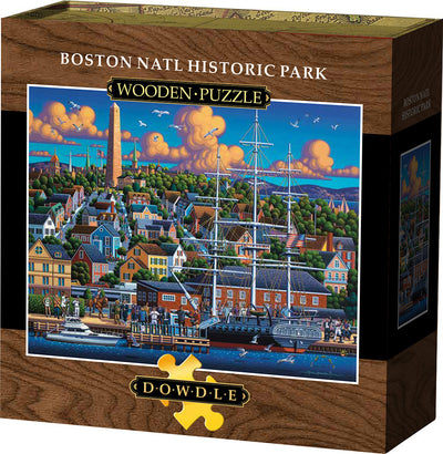 Boston National Wooden Puzzle