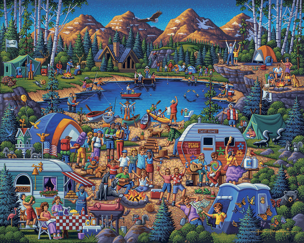 Camping Adventure - Dowdle Wooden Puzzle